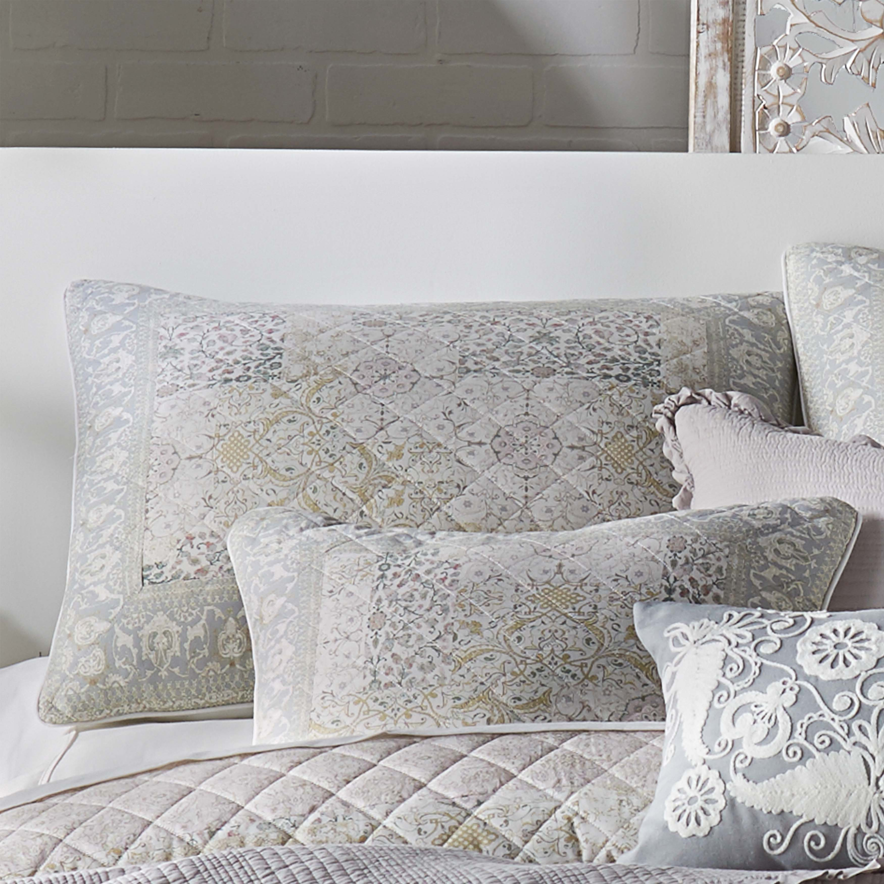 Melissa Blush Quilted Sham [Luxury comforter Sets] [by Latest Bedding]