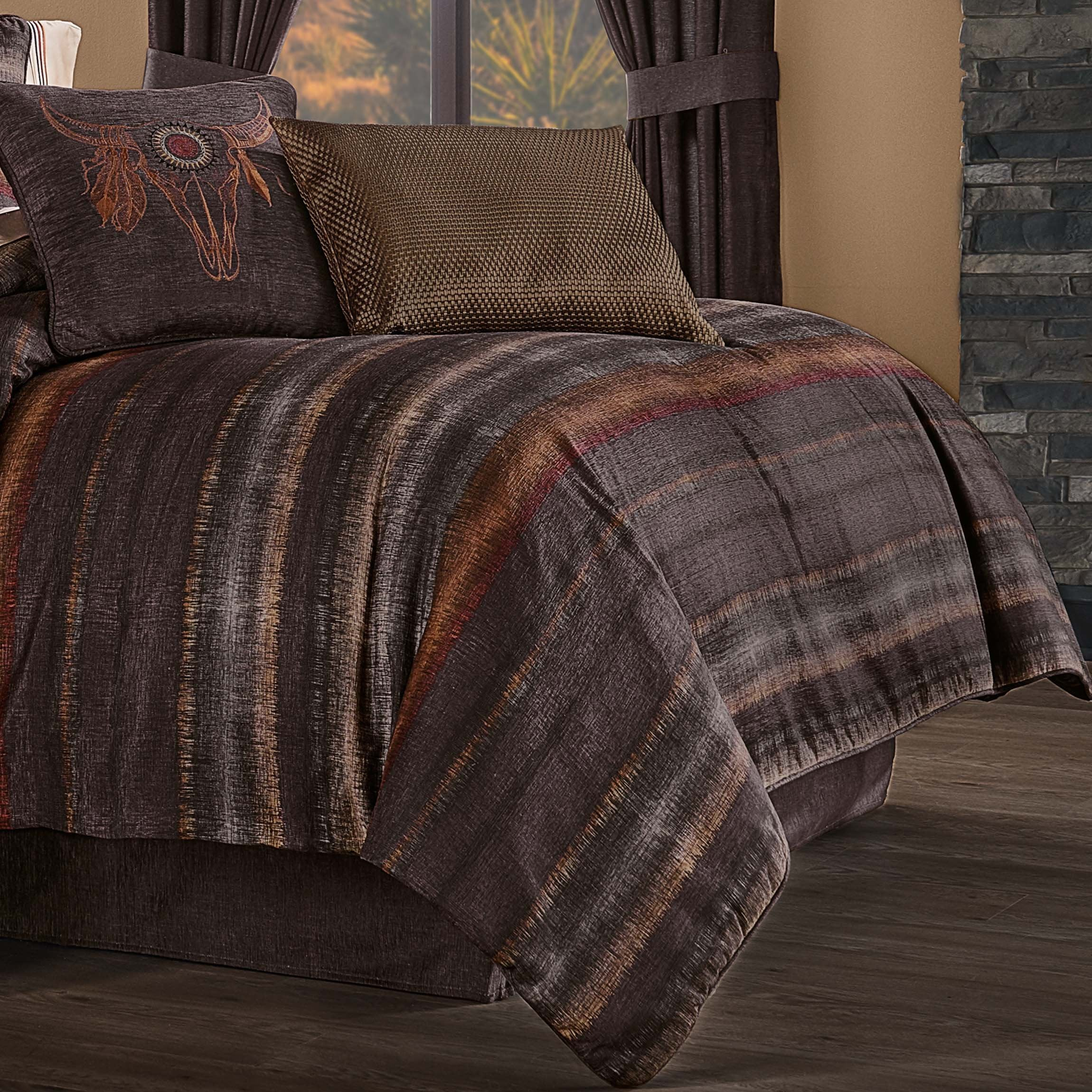 Mesa Chocolate 4-Piece Comforter Set [Luxury comforter Sets] [by Latest Bedding]