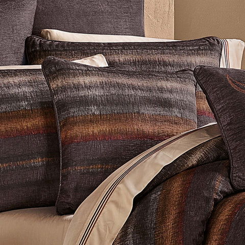 "Mesa Chocolate Throw Pillow 20"" X 20"" [Luxury comforter Sets] [by Latest Bedding]"