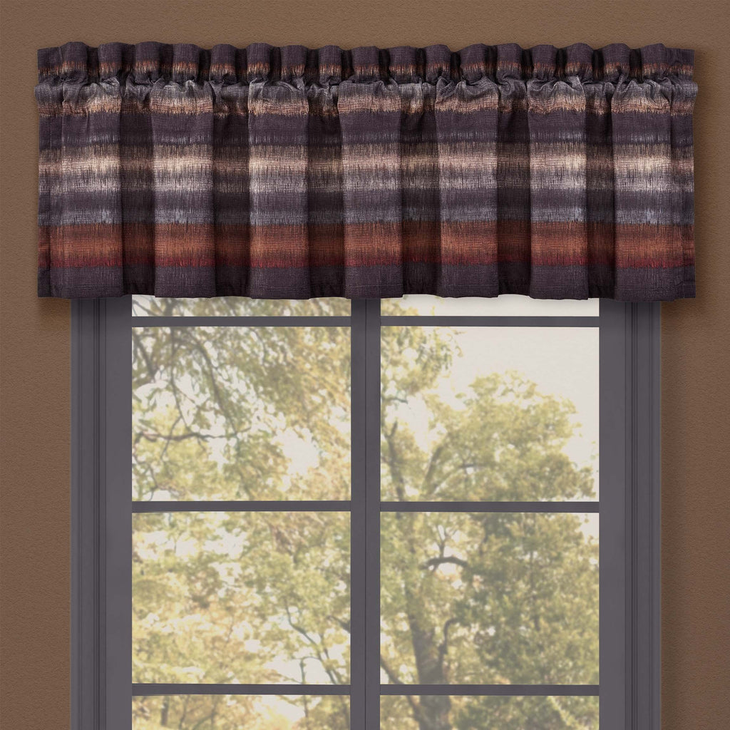 Mesa Chocolate Window Valance [Luxury comforter Sets] [by Latest Bedding]