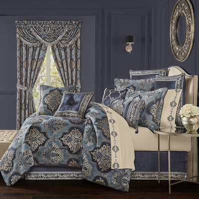 Middlebury Indigo 4-Piece Comforter Set Comforter Sets By J. Queen New York