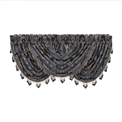 Middlebury Indigo Waterfall Window Valance Window Valance By J. Queen New York
