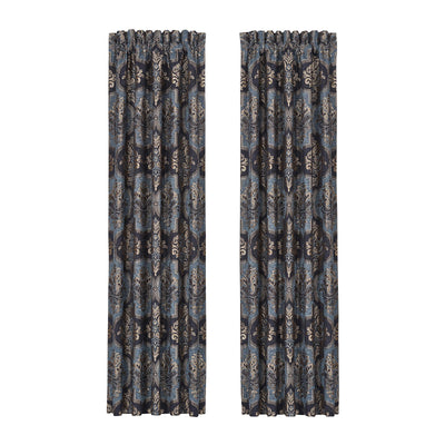 Middlebury Indigo Window Panel Pair Window Panels By J. Queen New York