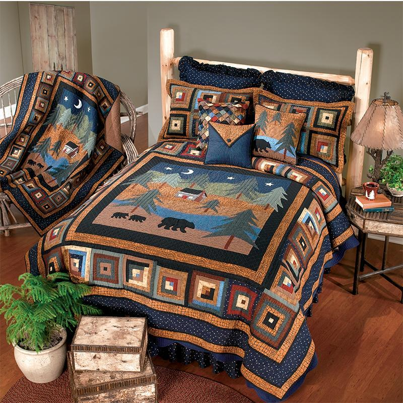 Midnight Bear 3-Piece Cotton Quilt Set [Luxury comforter Sets] [by Latest Bedding]