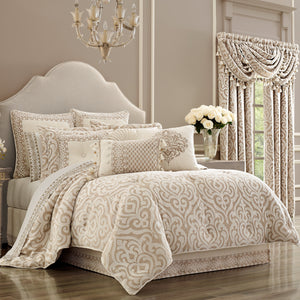 Milano Sand 4-Piece Comforter Set [Luxury comforter Sets] [by Latest Bedding]