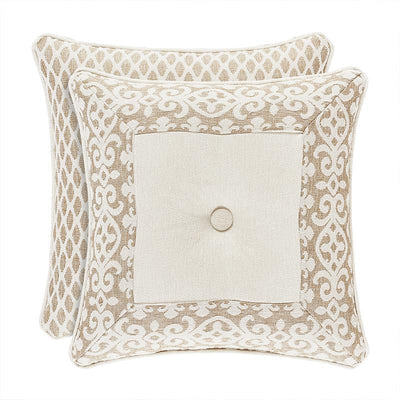 Milano Sand Square Decorative Throw Pillow- Throw Pillows By J. Queen New York