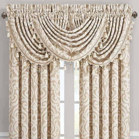 Milano Sand Waterfall Window Valance [Luxury comforter Sets] [by Latest Bedding]