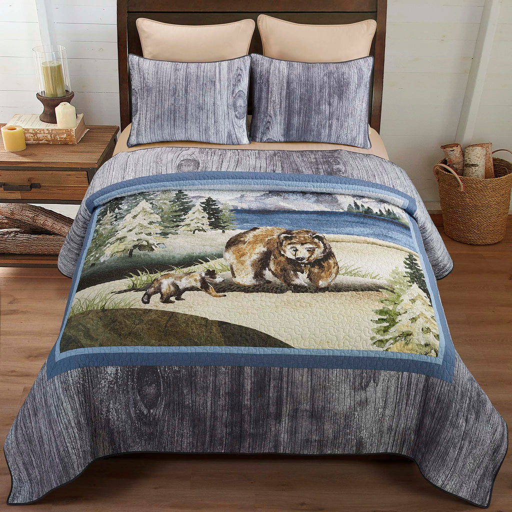 Montana Morning 3-Piece Quilt Set [Luxury comforter Sets] [by Latest Bedding]