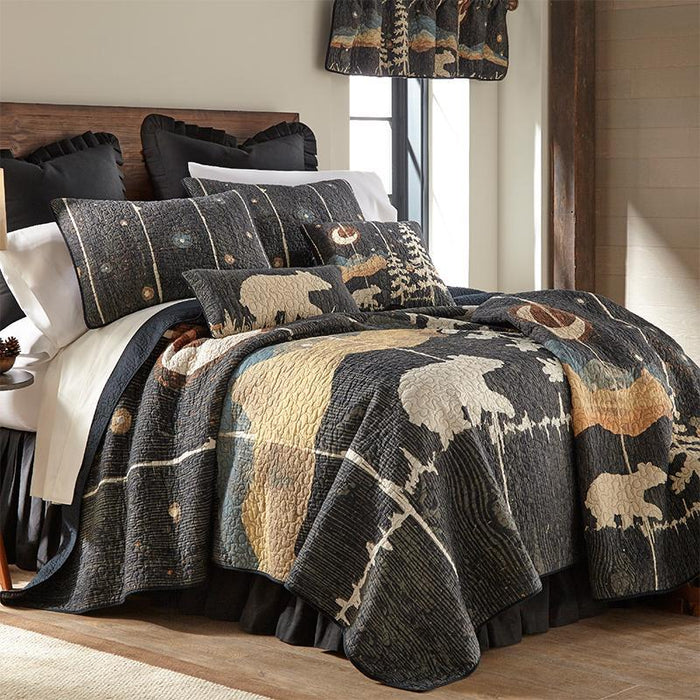 Moonlit Bear 3-Piece Cotton Quilt Set