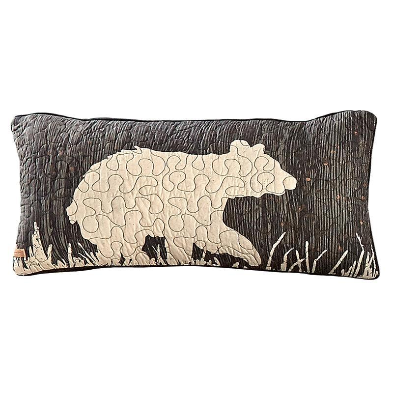 Moonlit Bear Rectangle Decorative Pillow [Luxury comforter Sets] [by Latest Bedding]
