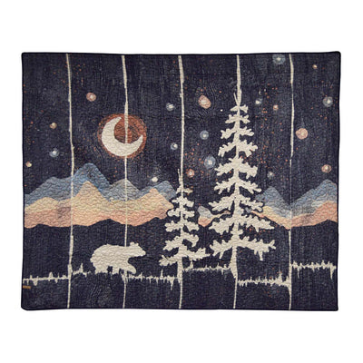 Moonlit Bear Throw [Luxury comforter Sets] [by Latest Bedding]