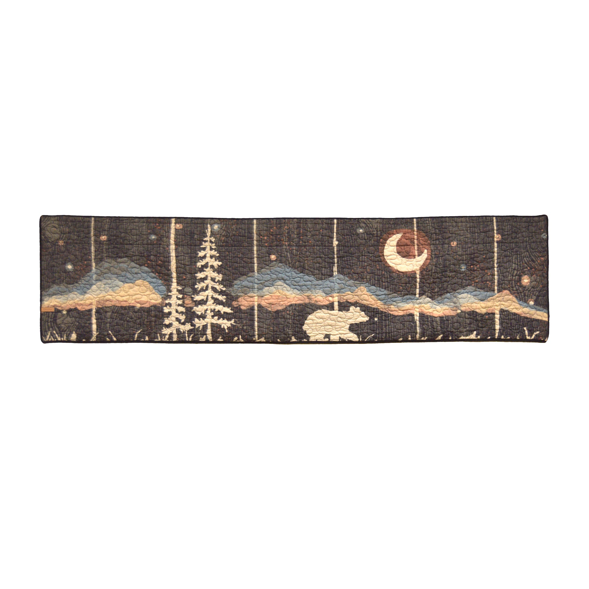 Moonlit Bear Window Valance [Luxury comforter Sets] [by Latest Bedding]