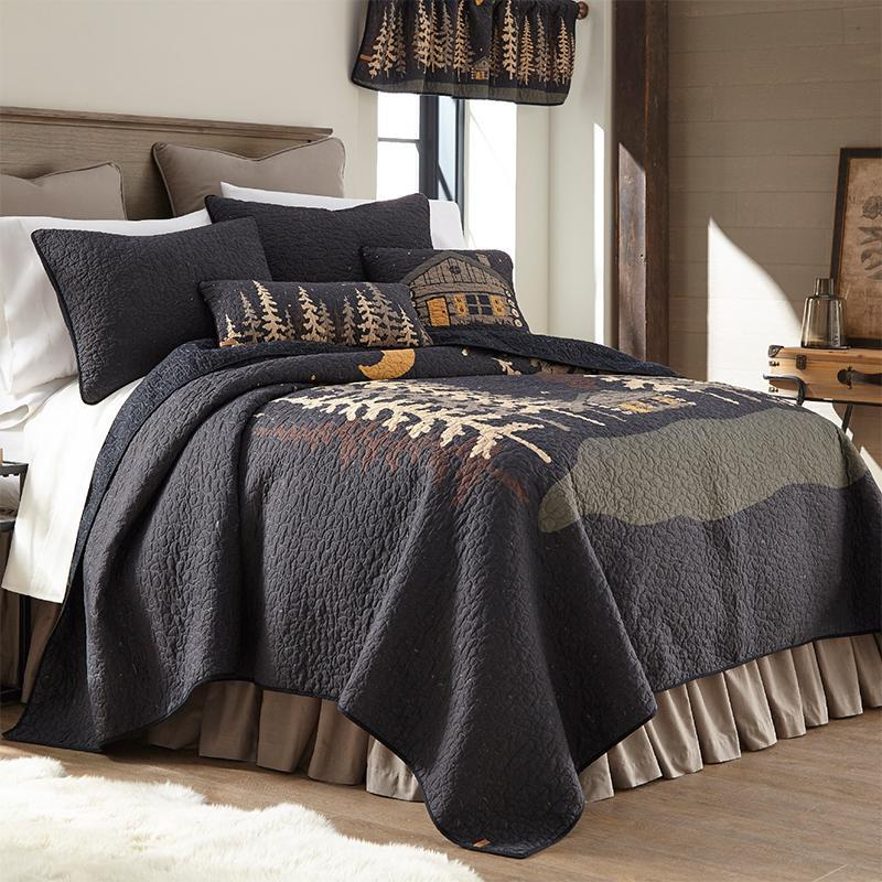 Moonlit Cabin 3-Piece Cotton Quilt Set [Luxury comforter Sets] [by Latest Bedding]