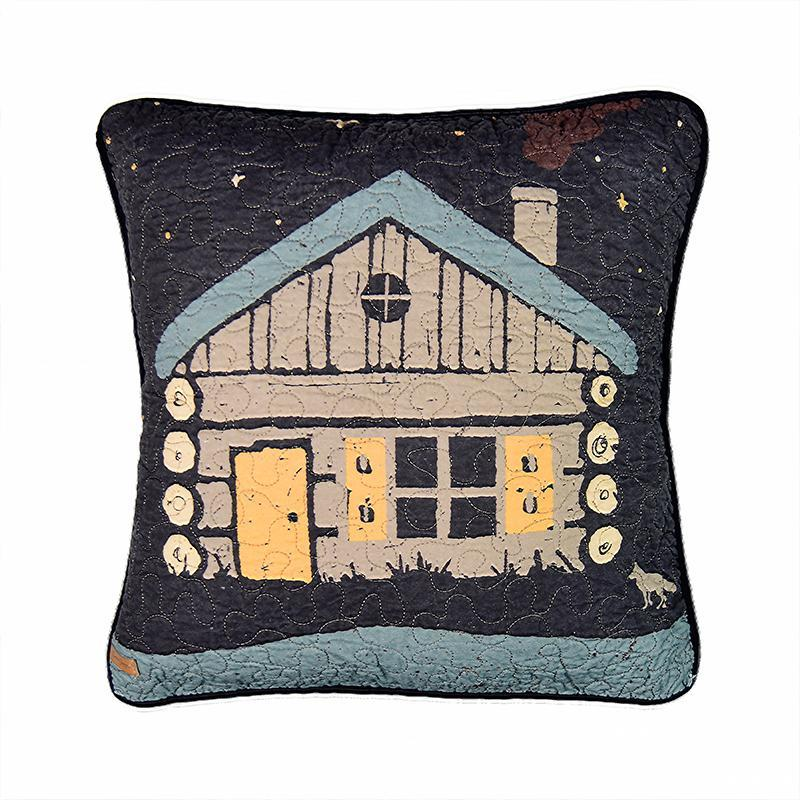 Moonlit Cabin Decorative Pillow [Luxury comforter Sets] [by Latest Bedding]