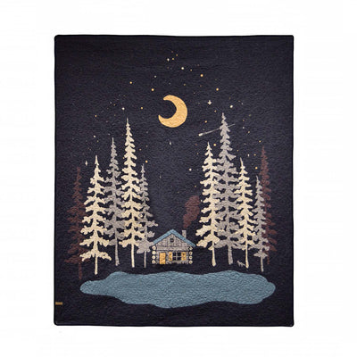 Moonlit Cabin Throw [Luxury comforter Sets] [by Latest Bedding]