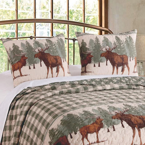 Quilt Sets Moose Creek Multi 3-Piece Quilt Set [Luxury comforter Sets) ( by Latest Bedding)]