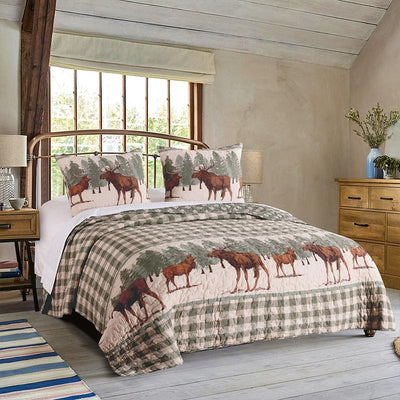 Moose Creek Multi 3-Piece Quilt Set Quilt Sets By Greenland Home Fashions