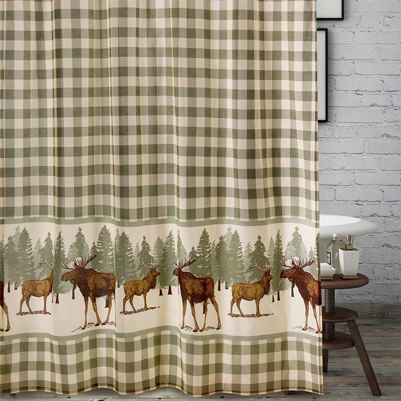 Shower Curtain Moose Creek Multi Bath Shower Curtain [Luxury comforter Sets) ( by Latest Bedding)]