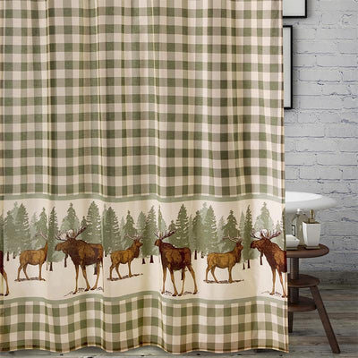 Moose Creek Multi Bath Shower Curtain Shower Curtain By Greenland Home Fashions