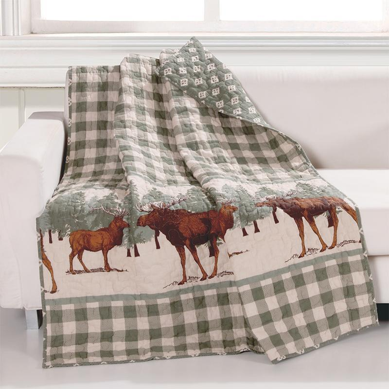Throws Moose Creek Multi Throw [Luxury comforter Sets) ( by Latest Bedding)]