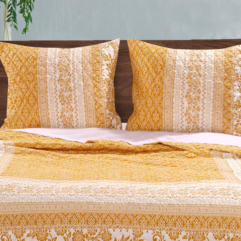 Quilt Sets Mykonos Gold 3-Piece Quilt Set Latest Bedding