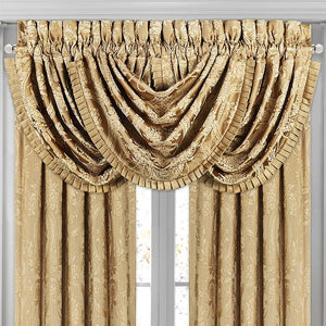 Napoleon Gold Waterfall Window Valance [Luxury comforter Sets] [by Latest Bedding]