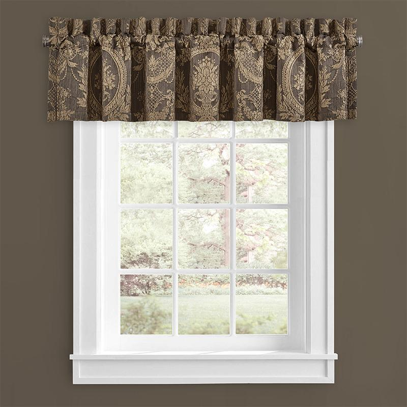 Window Valance Neapolitan Mink Straight Window Valance [Luxury comforter Sets) ( by Latest Bedding)]