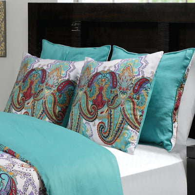 Nirvana Teal Duvet Sham Sham By Greenland Home Fashions