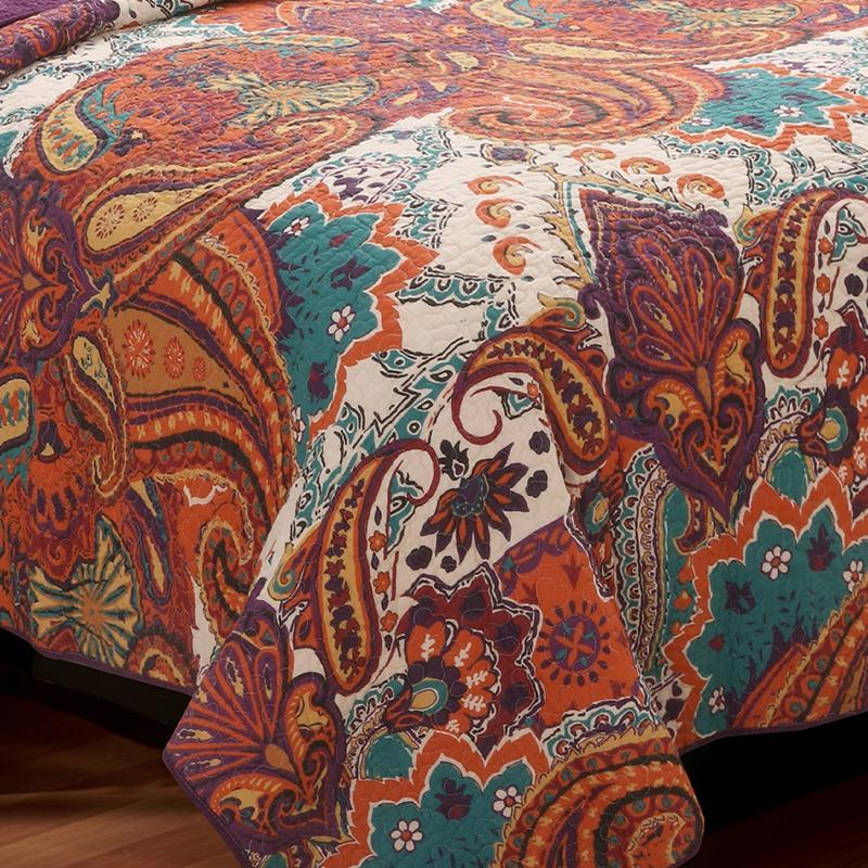 Nirvana Spice 3-Piece Quilt Set [Luxury comforter Sets] [by Latest Bedding]
