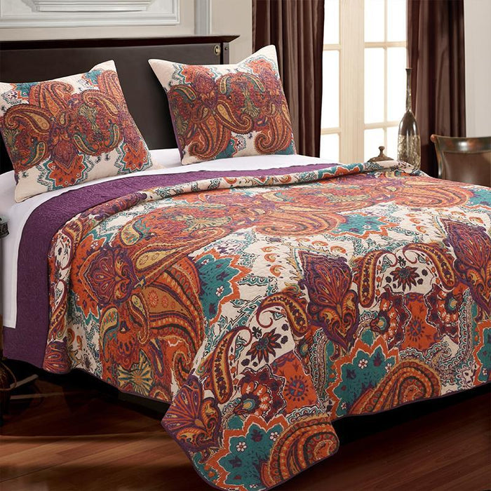 Nirvana Spice 3-Piece Quilt Set