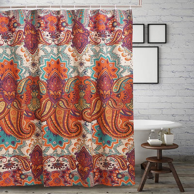 Nirvana Spice Bath Shower Curtain [Luxury comforter Sets] [by Latest Bedding]