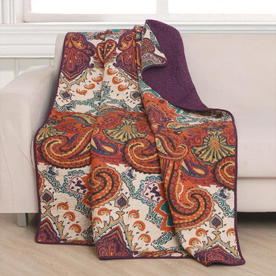 Nirvana Spice Throw [Luxury comforter Sets] [by Latest Bedding]