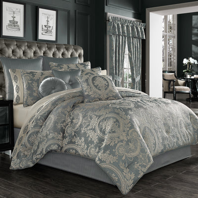 Nocolette Blue 4-Piece Comforter Set [Luxury comforter Sets] [by Latest Bedding]