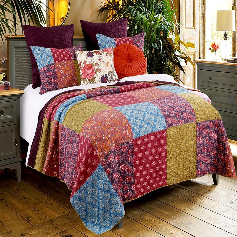 Quilt Sets Normandy Multi 3-Piece Quilt Set Latest Bedding