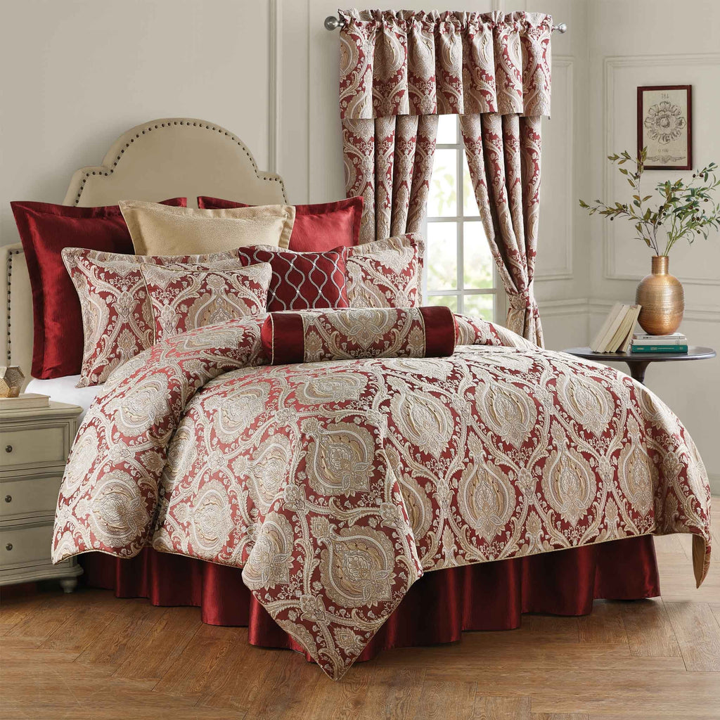 Norwich Wine 4-Piece Comforter Set [Luxury comforter Sets] [by Latest Bedding]