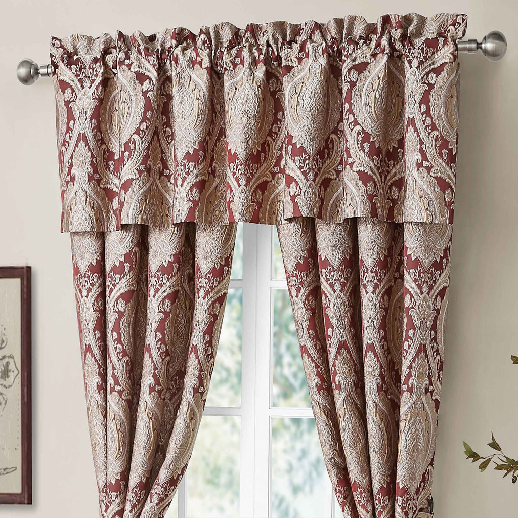 Norwich Wine Window Valance [Luxury comforter Sets] [by Latest Bedding]