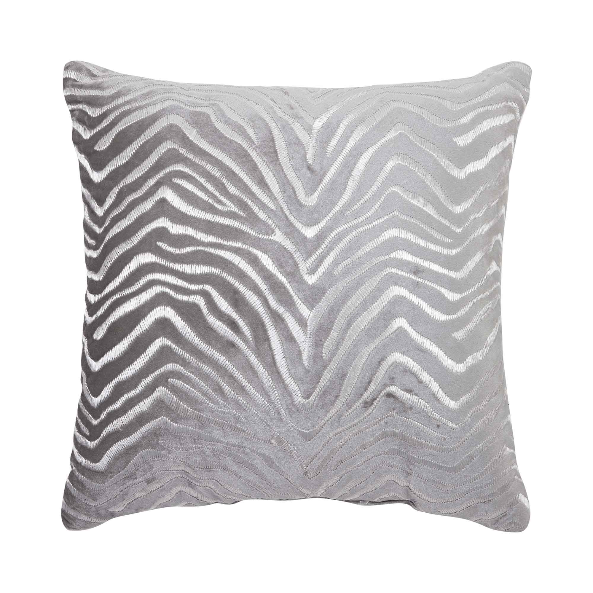 "Nova Silver Fashion Throw Pillow 18"" x 18"" [Luxury comforter Sets] [by Latest Bedding]"