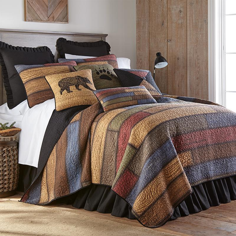 Oakland Brick Red 3-Piece Cotton Quilt Set [Luxury comforter Sets] [by Latest Bedding]