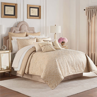 Olann Gold 4-Piece Comforter Set Comforter Sets By Waterford