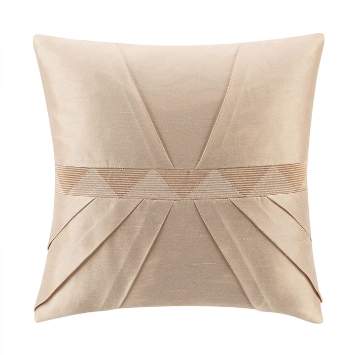 "Olann Gold Decorative Throw Pillow 16""W x 16""L"