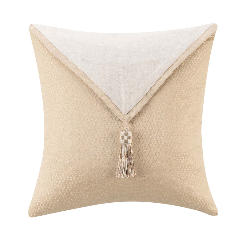 "Olann Gold Decorative Throw Pillow 18"" x 18"" [Luxury comforter Sets] [by Latest Bedding]"