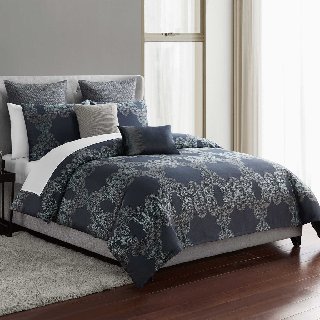 Orion Azure 3-Piece Comforter Set [Luxury comforter Sets] [by Latest Bedding]