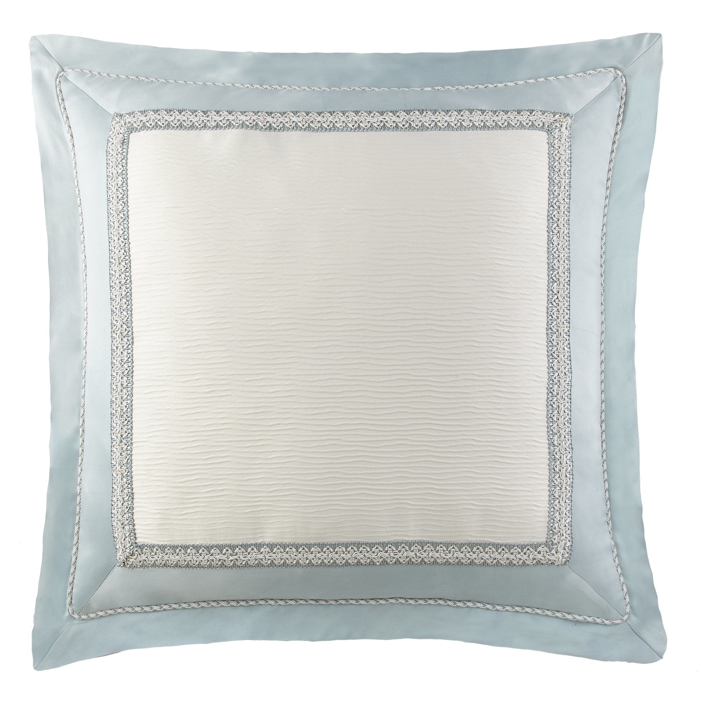 Jonet Cream/Aqua Euro Sham Euro Shams By Waterford