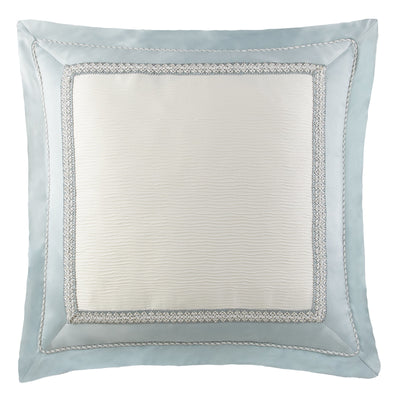 Jonet Cream/Aqua Euro Sham [Luxury comforter Sets] [by Latest Bedding]