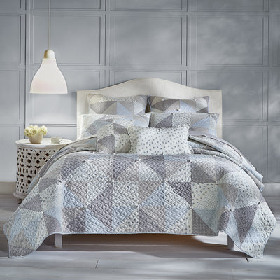 Paige Blue Quilt [Luxury comforter Sets] [by Latest Bedding]