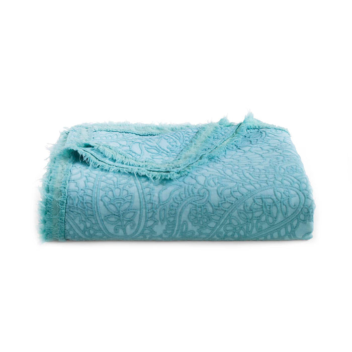 Paisley Aqua Throw