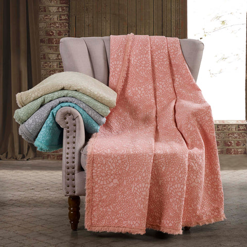Paisley Grey Throw [Luxury comforter Sets] [by Latest Bedding]