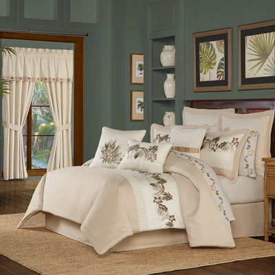 Palm Beach Sand 4-Piece Comforter Set Comforter Sets By J. Queen New York