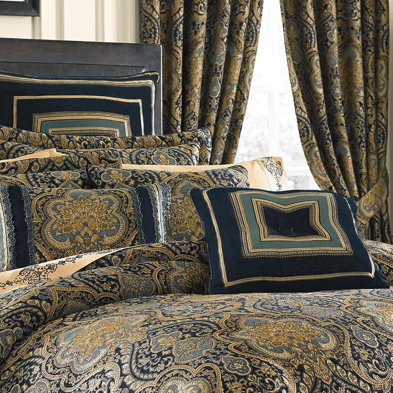 Palmer Teal 4-Piece Comforter Set [Luxury comforter Sets] [by Latest Bedding]
