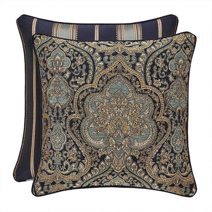 Palmer Teal Square Decorative Throw Pillow